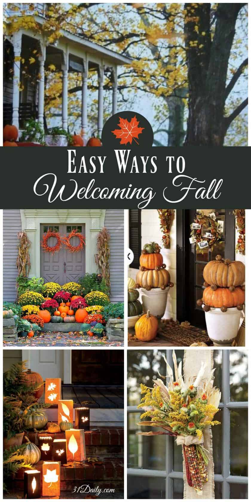 Easy Ways to Welcome Fall - Front Porch Ideas | 31Daily.com