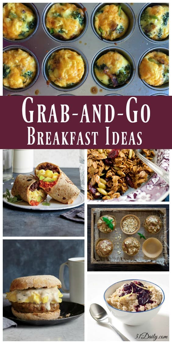Grab-and-Go Quick and Healthy Breakfast Ideas | 31Daily.com