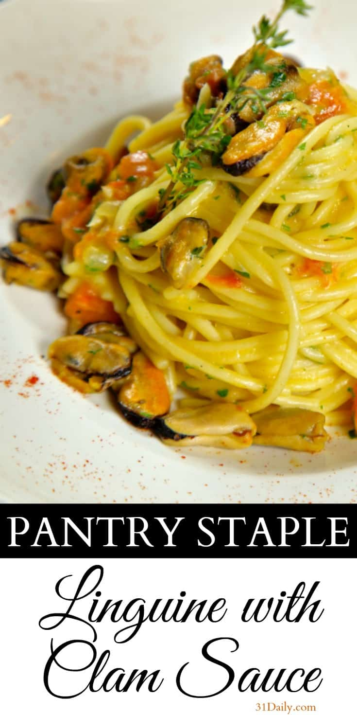 Pantry Dinner: Linguine with Clam Sauce | 31Daily.com