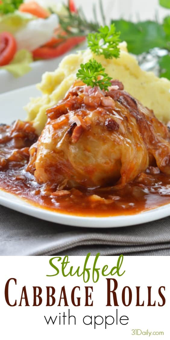 Stuffed Cabbage Rolls with Apple | 31Daily.com