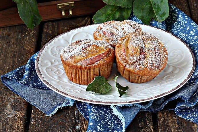 Healthy Cinnamon Apple Bran Muffins