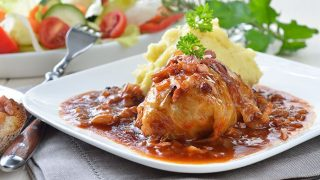 Stuffed Cabbage Rolls with Apple