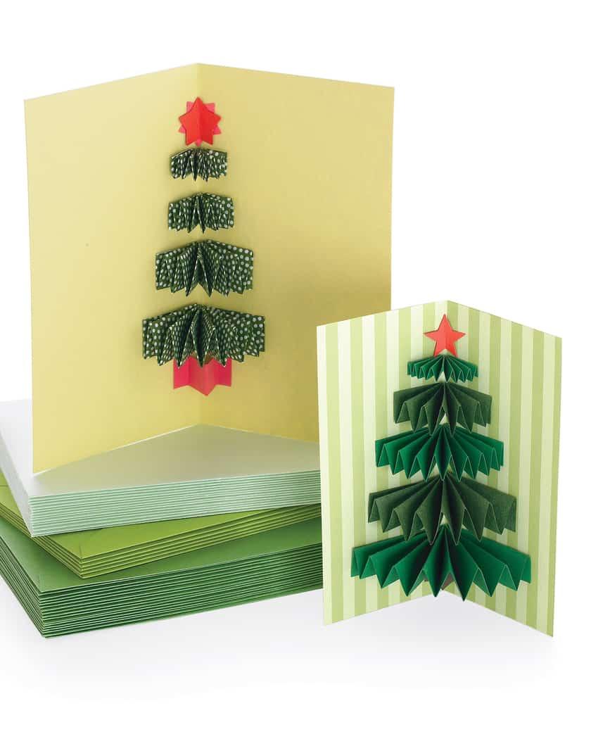 Как сделать новогоднюю объёмную открытку своими руками