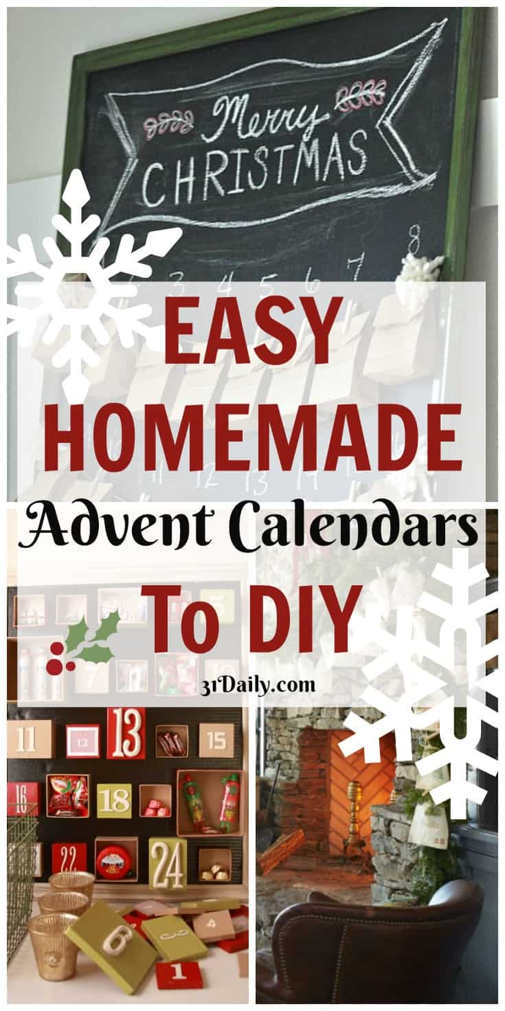 Easy Homemade Advent Calendars to DIY | 31Daily.com