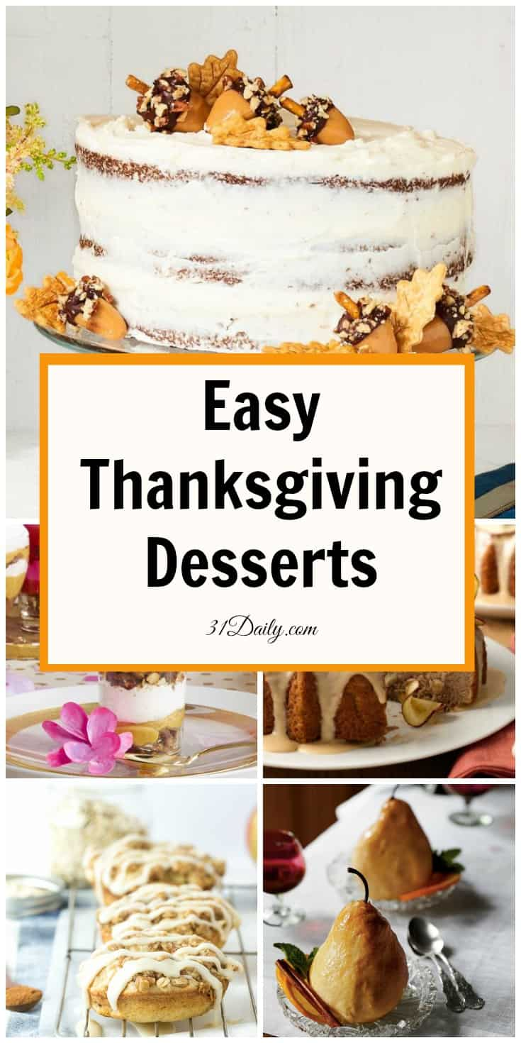 Easy Thanksgiving Desserts for a Spectacular Holiday | 31Daily.com
