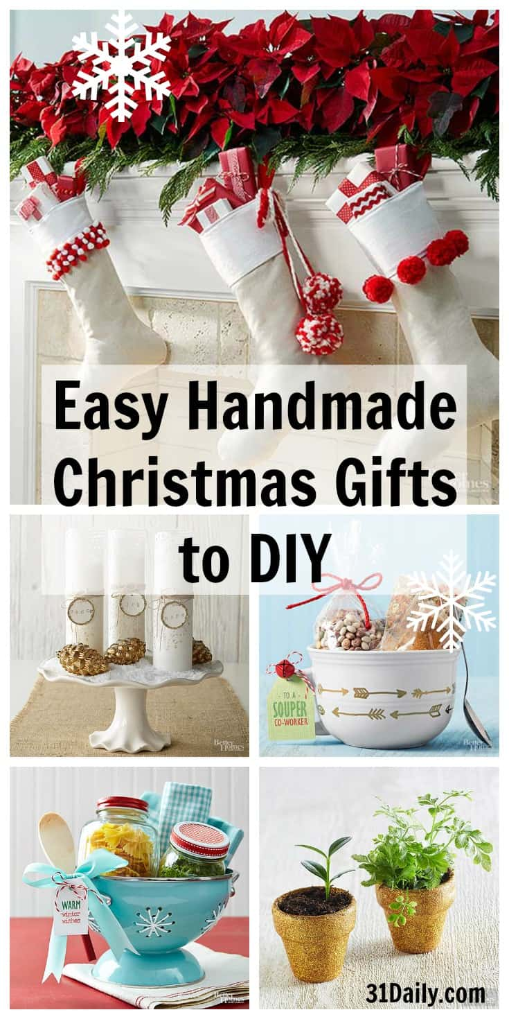 Easy Handmade Christmas Gifts to DIY - 31 Daily