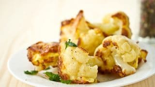 Oven Roasted Cauliflower with Turmeric and Cumin