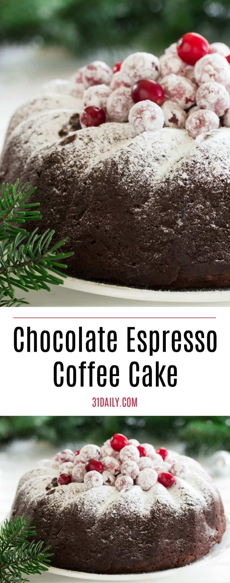 Timeless Classic: Chocolate Espresso Coffee Cake | 31Daily.com
