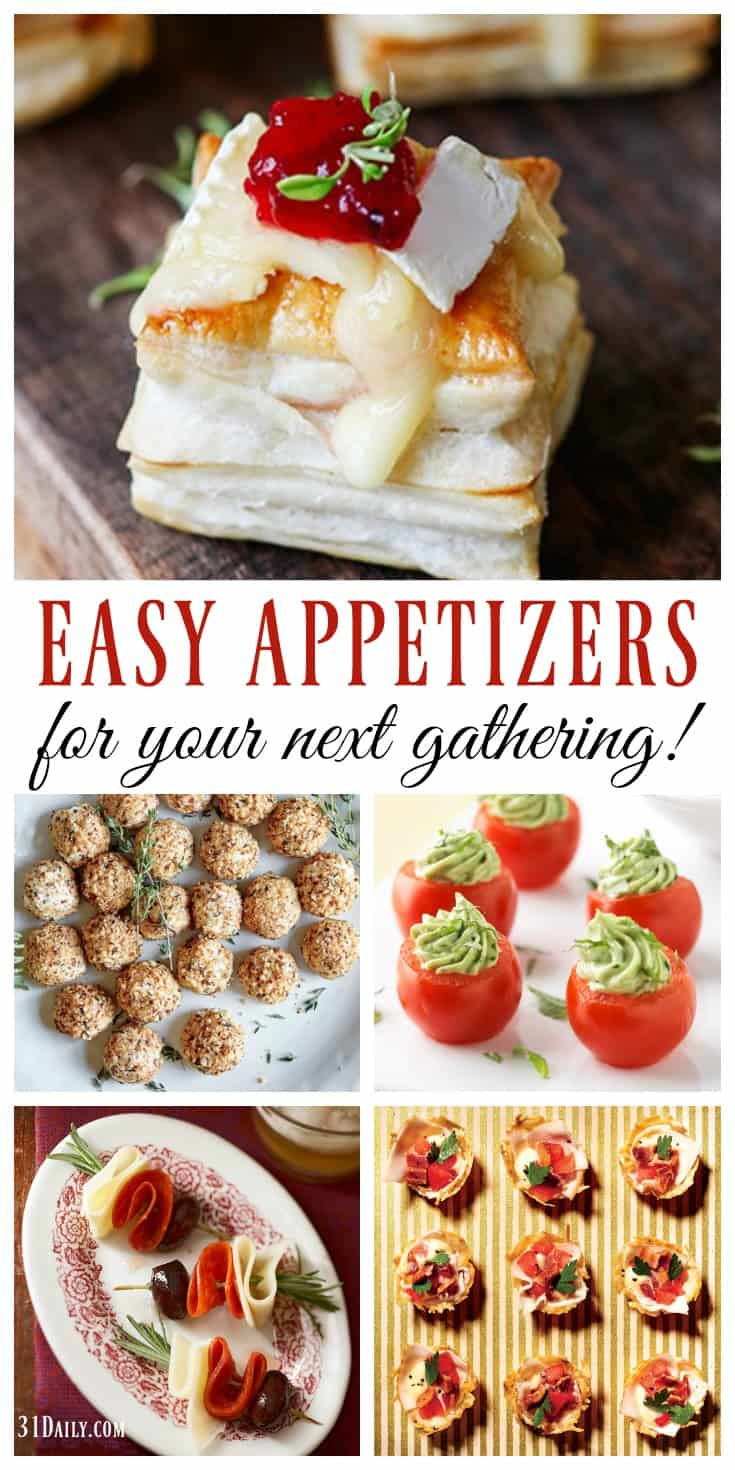 Easy Holiday Appetizers That Will Please Any Crowd | 31Daily.com