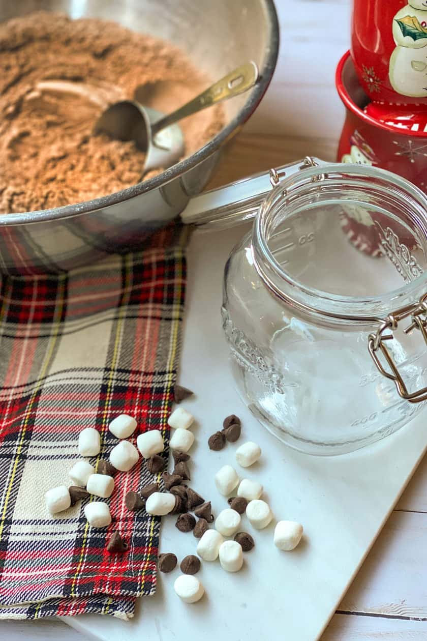 Sifted Ingredients for Homemade Hot Chocolate Mix