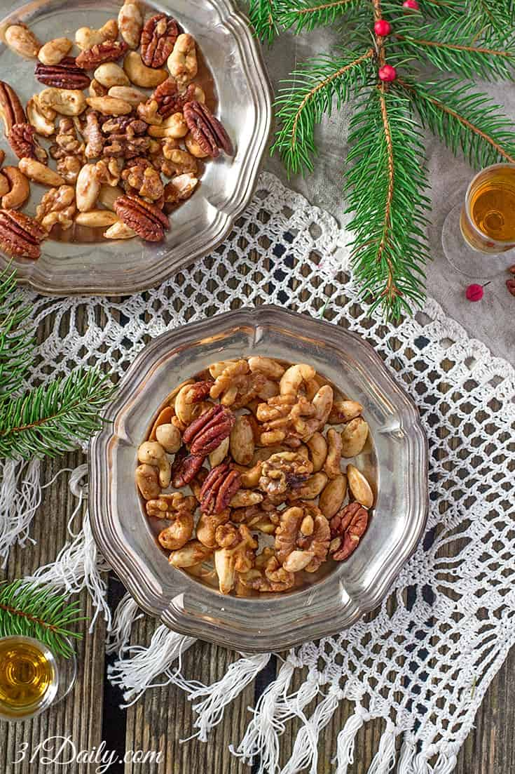 Easy Appetizer: Sweetly Spiced Mixed Nuts | 31Daily.com