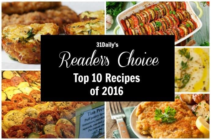 Top Reader's Choice Recipes for 2016
