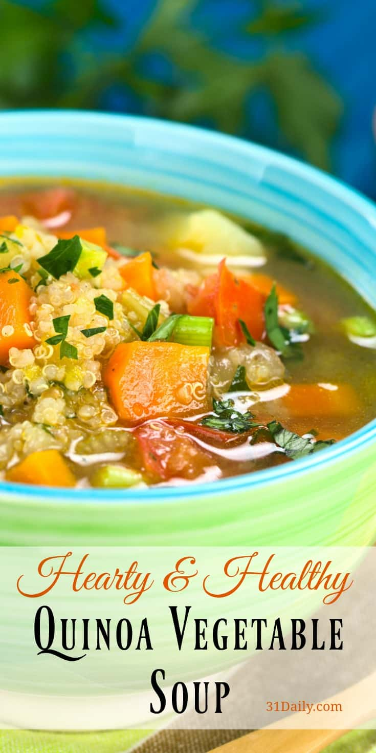 Quinoa Vegetable Soup with Leeks, Carrots and Potatoes | 31Daily.com