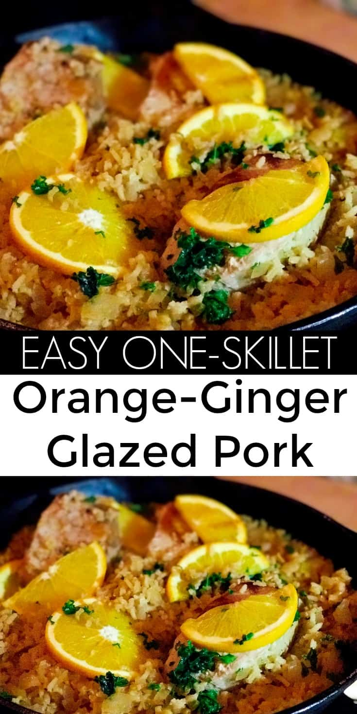 Classic One-Skillet Orange and Ginger Glazed Pork Chops with Kale   31Daily.com