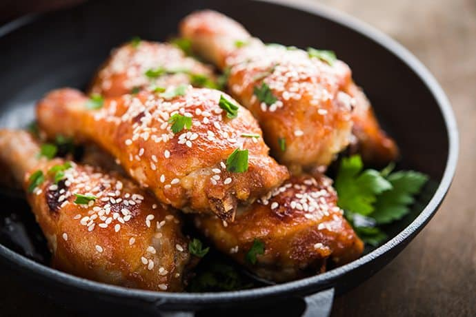 Easy Weeknight Meal: Honey and Sesame Chicken Drumsticks
