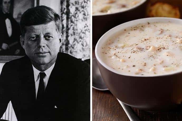 JFK's Favorite New England Fish Chowder Recipe | 31Daily.com
