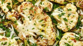Roasted Cauliflower Steaks with Parmesan and Lemon Zest
