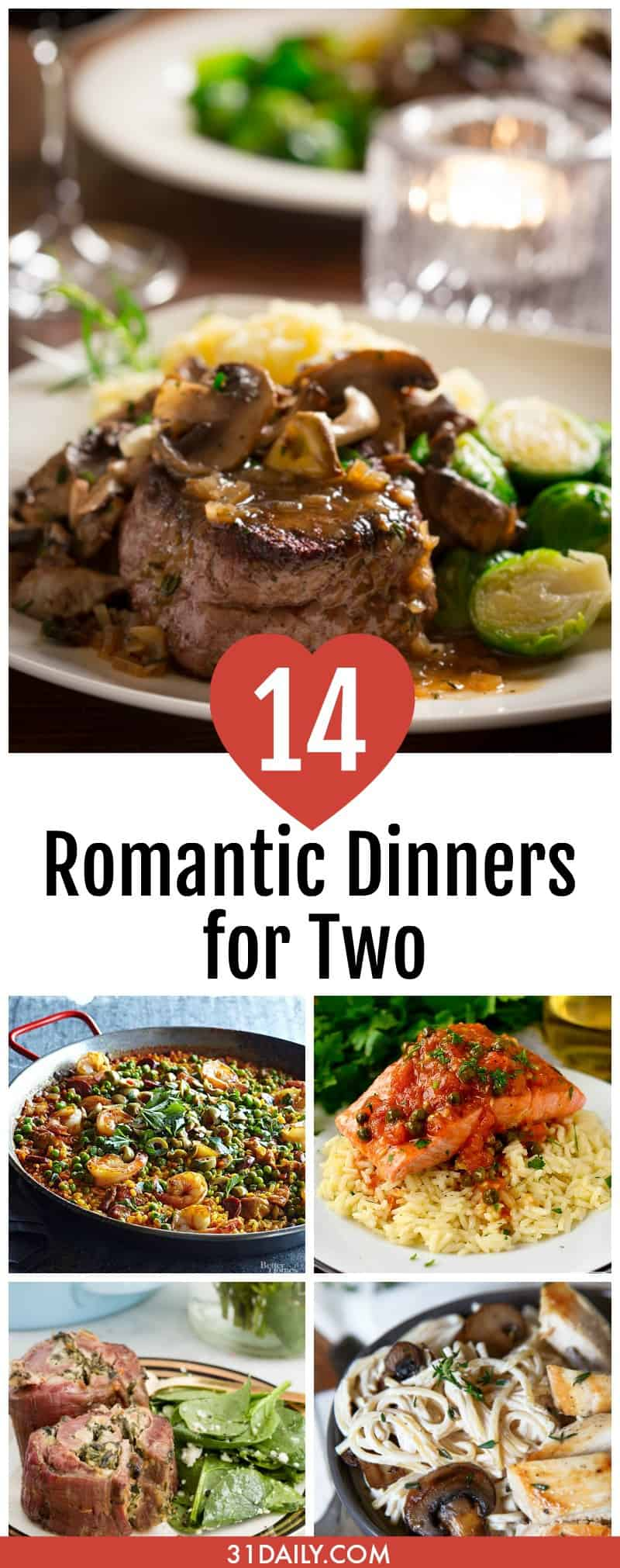 14 Romantic Dinners for Two | 31Daily.com
