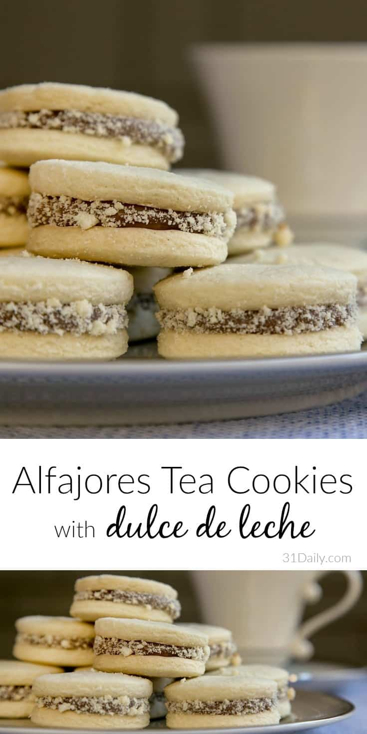 Latin American Alfajores Tea Cookies with Dulce de Leche | 31Daily.com