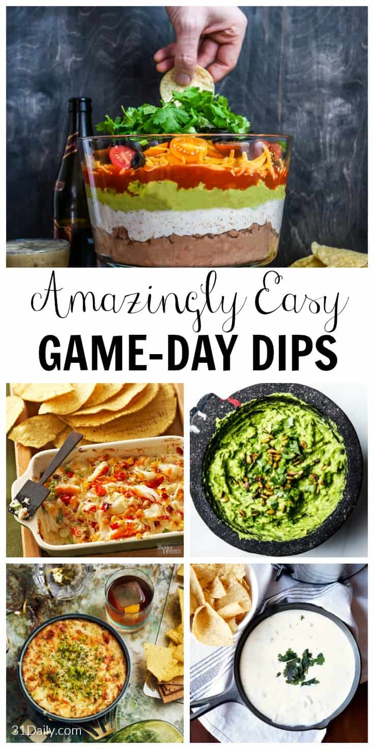 Amazingly Easy Game Day Dips to Feed Your Crowd | 31Daily.com