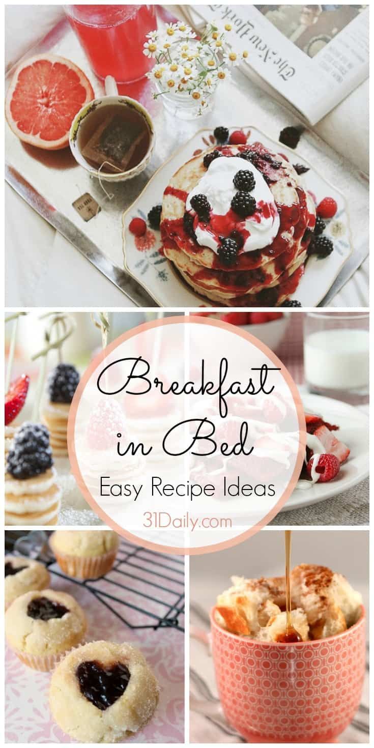 Breakfast in Bed Easy Recipe Ideas | 31Daily.com