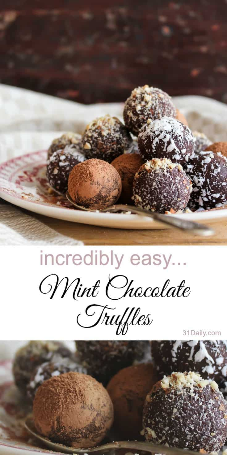A Simple Yet Decadent Chocolate Mint Truffles | 31Daily.com
