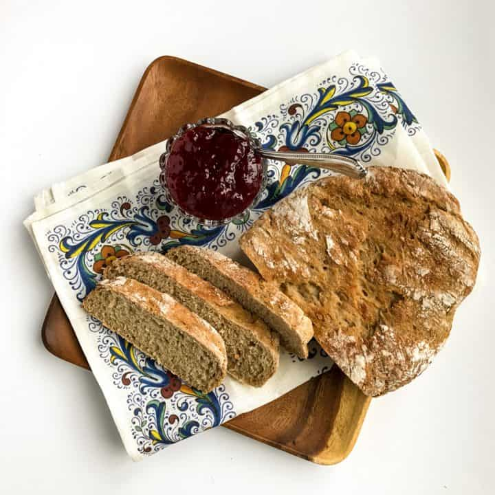 Rustic Slow Cooker Whole Wheat Bread