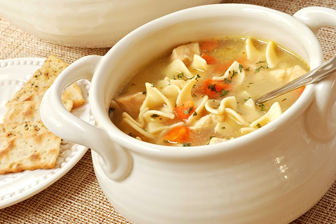 Restorative French Chicken Noodle Soup with Tarragon and Cayenne | 31Daily.com