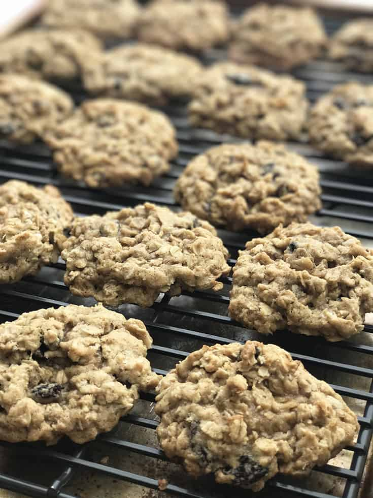 Healthier Whole Grain Soft and Chewy Oatmeal Raisin Cookies | 31Daily.com