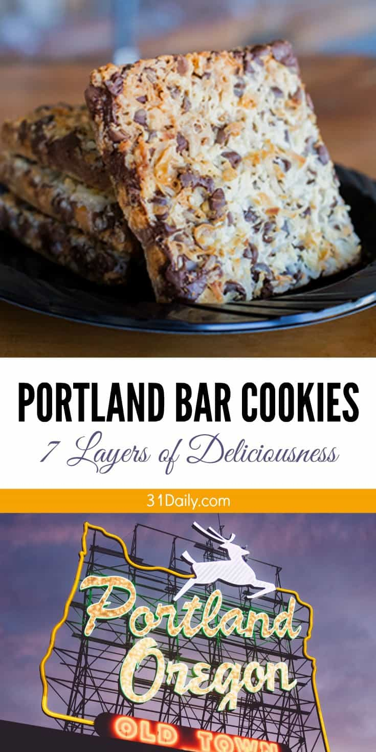 Portland Bar Cookies - A 7 Layer Decadent Treat | 31Daily.com