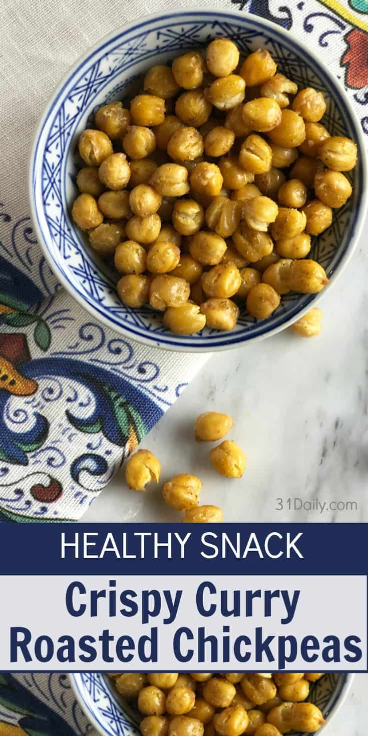 Healthy Snack: Crispy Curry Roasted Chickpeas | 31Daily.com