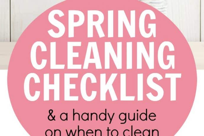 Spring Cleaning Checklist: What You Should Clean Yearly   31Daily.com