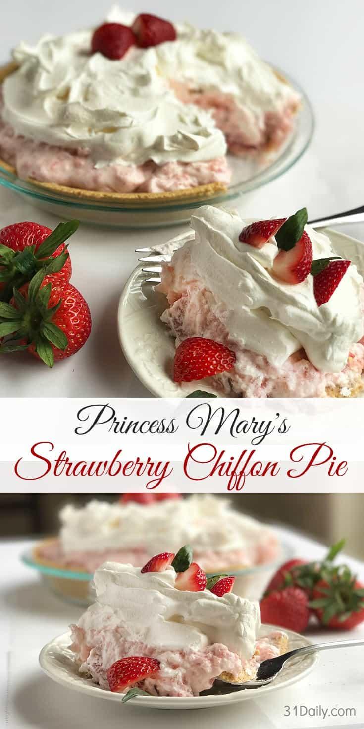 A Vintage Recipe: Princess Mary's Strawberry Chiffon Pie | 31Daily.com
