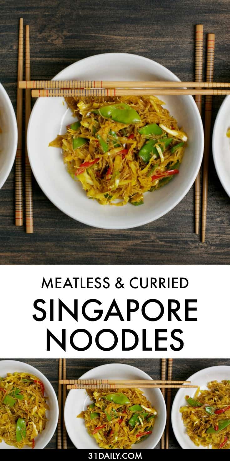 A Meatless Curried Singapore Noodles to Make at Home | 31Daily.com