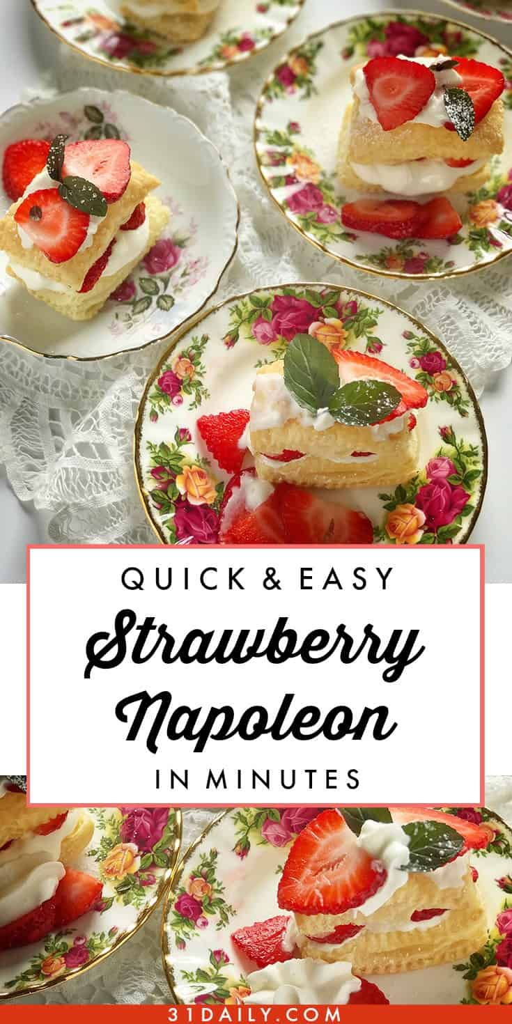 A Quick and Easy Strawberry Napoleon Dessert in Minutes | 31Daily.com