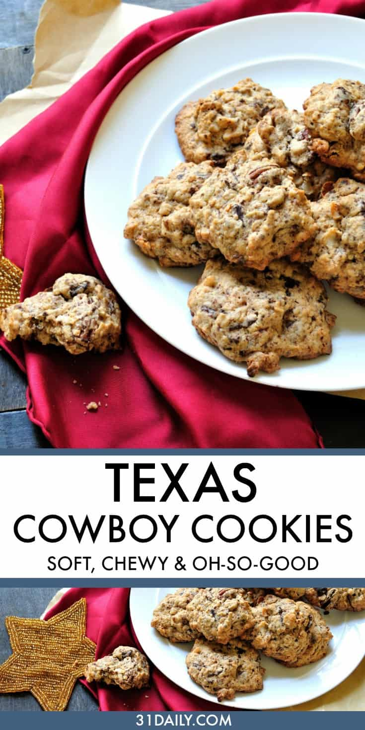 Texas Cowboy Cookies Make Fun and Hardy Weekend Treats | 31Daily.com