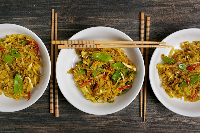 A Meatless Curried Singapore Noodles to Make at Home