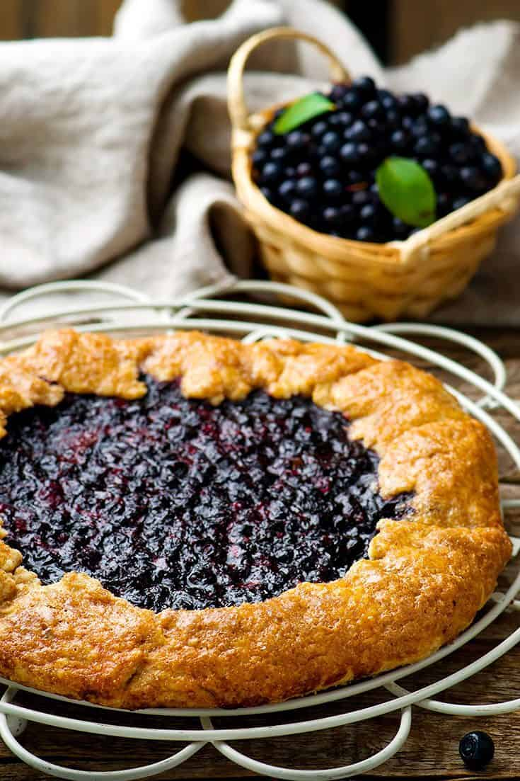 A Summer Fresh Blueberry Crostata is the Easiest Pie You'll Make