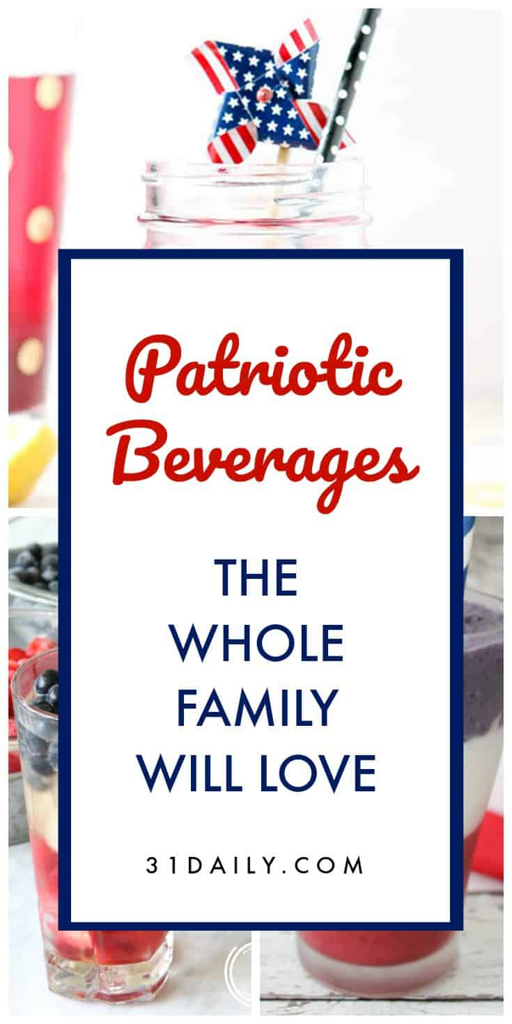Refreshing Patriotic Beverages the Whole Family Will Love | 31Daily.com