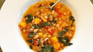 Longevity Ikarian Stew with Black Eyed Peas and Kale