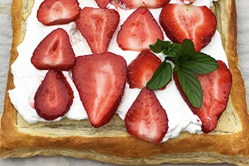 Quick and Easy Puff Pastry Strawberry Tart | 31Daily.com