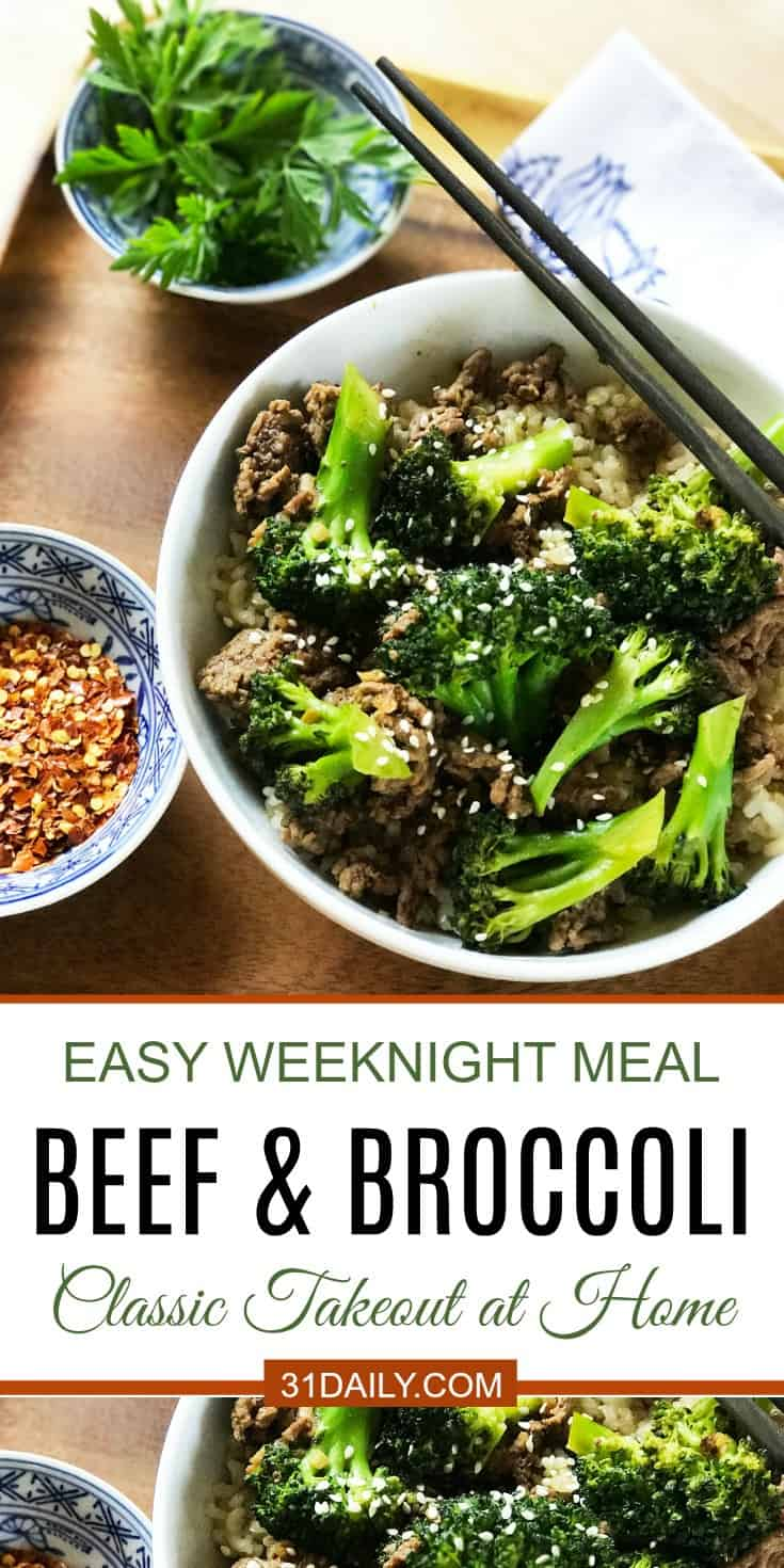 Favorite Takeout Beef and Broccoli Becomes Quick and Easy | 31Daily.com