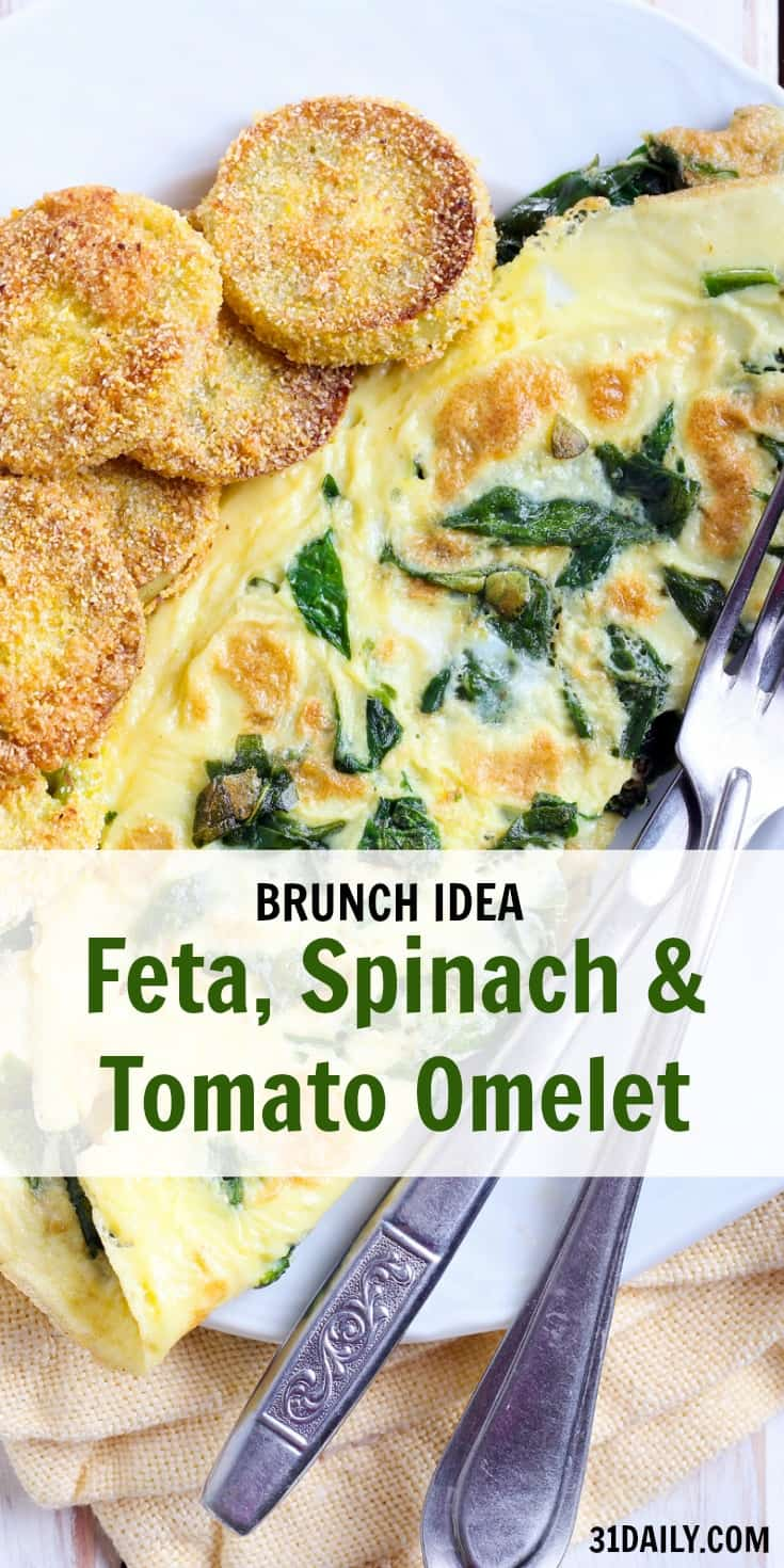 Feta, Spinach and Tomato Omelet | 31Daily.com