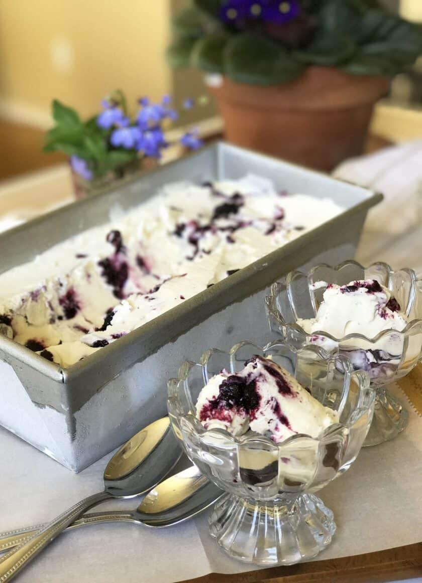 Simple No-Churn Blueberry Ice Cream | 31Daily.com