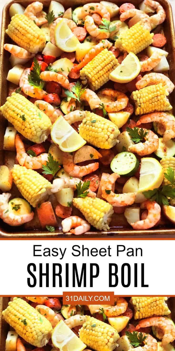 An Easy and Classic Sheet Pan Shrimp Boil | 31Daily.com