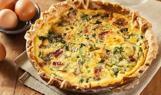 Easy Bacon, Cheese and Spinach Quiche