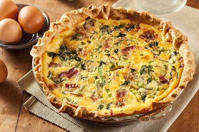 Easy Bacon, Cheese and Spinach Quiche | 31Daily.com