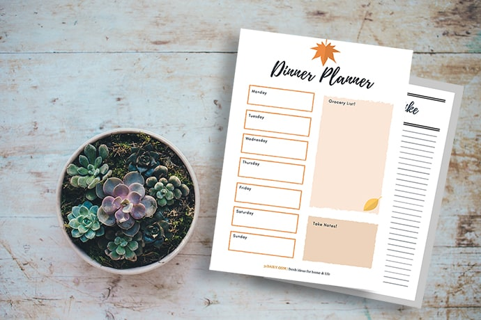 Dinner Planning Basics with a Fall Menu Printable