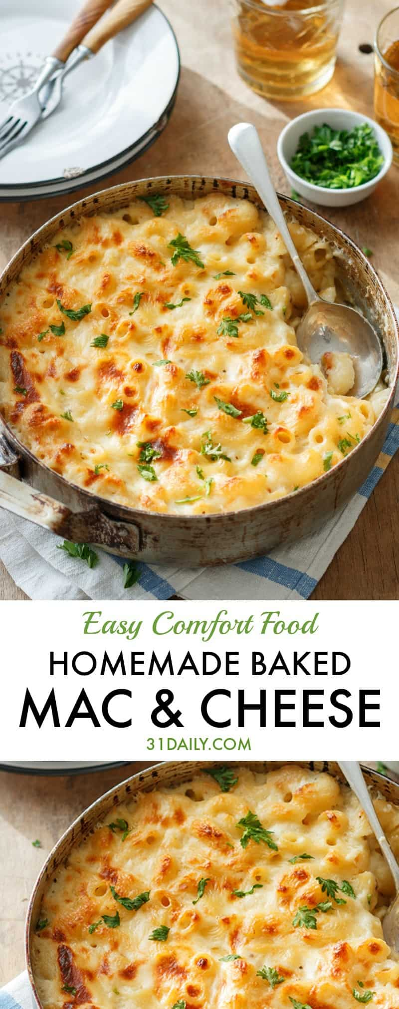 Easy Homemade Baked Mac and Cheese | 31Daily.com
