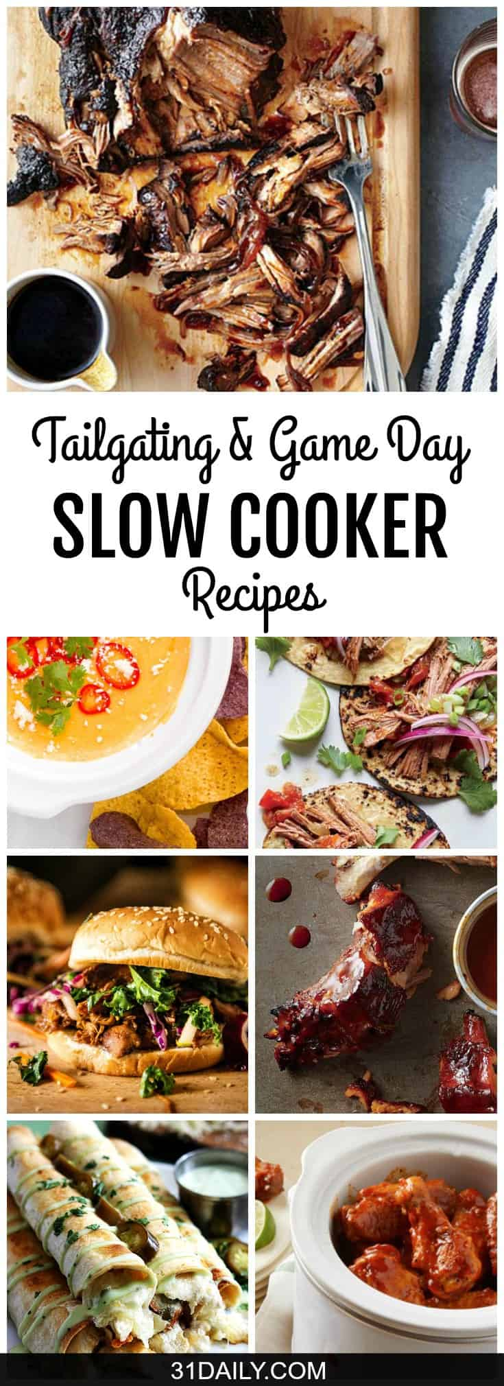 17 Easy Tailgating and Game Day Slow Cooker Recipes | 31Daily.com